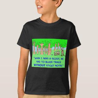 BOY SCOUTS BLAZE TRAIL STICKY NOTES T-Shirt