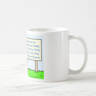 boy scouts comply brave trustworthy loyal kind coffee mug