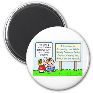boy scouts comply brave trustworthy loyal kind magnet