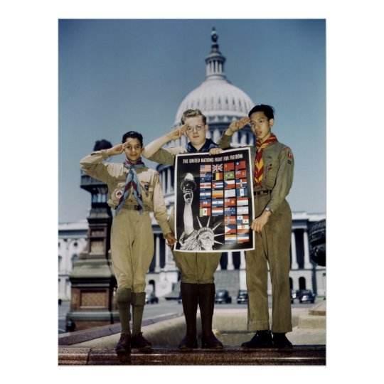 Boy Scouts in D.C., 1941 Poster