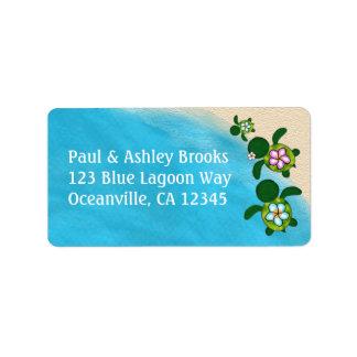 BOY Sea TURTLE Baby Shower Honu 02B Address Labels