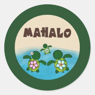 BOY Sea TURTLE Baby Shower (Honu) 02B Mahalo #4 Classic Round Sticker