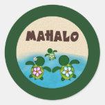 BOY Sea TURTLE Baby Shower (Honu) 02B Mahalo #4 Round Sticker