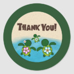 BOY Sea TURTLE Baby Shower (Honu) 02B Thank You #4 Classic Round Sticker