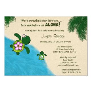 BOY Sea TURTLE Baby Shower Invite BLUE (Honu) 02A