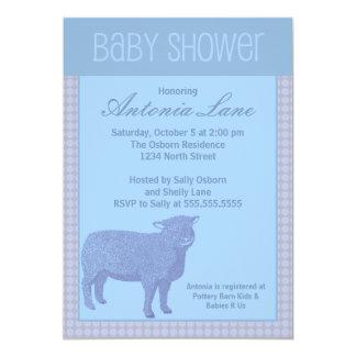 Boy Sheep Baby Shower Card