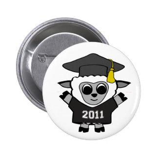 Boy Sheep Black & White 2011 Grad Button