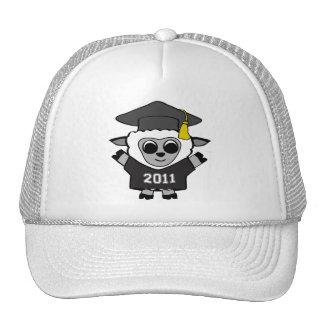 Boy Sheep Black & White 2011 Grad Trucker Hat