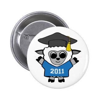 Boy Sheep Blue & White 2011 Grad Pinback Buttons