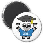 Boy Sheep Blue & White 2011 Grad Magnet