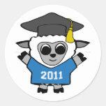 Boy Sheep Blue & White 2011 Grad Stickers