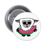 Boy Sheep Eating Watermelon Buttons