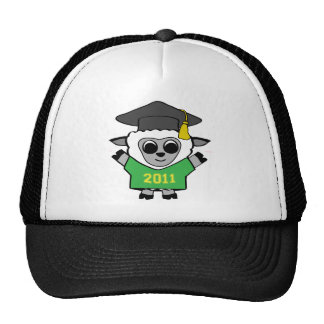 Boy Sheep Green & Gold 2011 Grad Trucker Hat