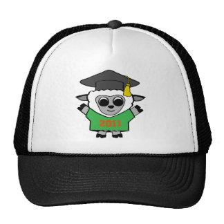 Boy Sheep Green & Orange 2011 Grad Trucker Hat