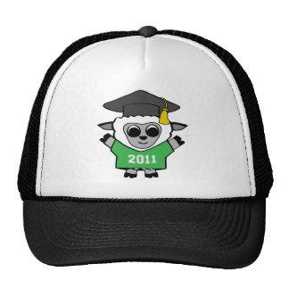 Boy Sheep Green & White 2011 Grad Trucker Hat