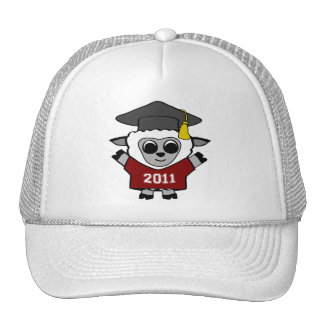 Boy Sheep Maroon & White 2011 Grad Trucker Hat