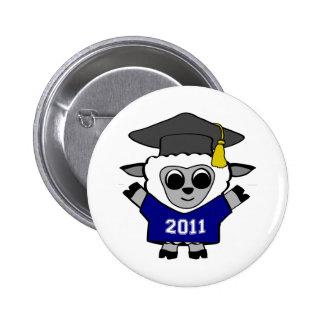 Boy Sheep Navy & White 2011 Grad Pinback Buttons
