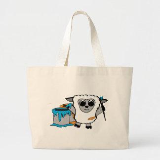 Boy Sheep Painting Fun Canvas Bag