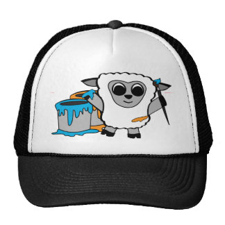 Boy Sheep Painting Fun Trucker Hat