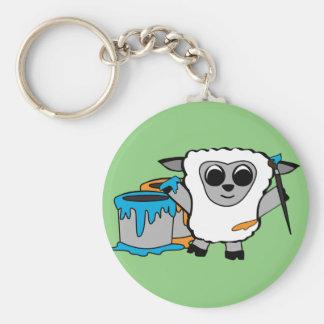 Boy Sheep Painting Keychain