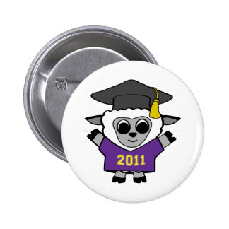 Boy Sheep Purple & Gold 2011 Grad Pinback Buttons