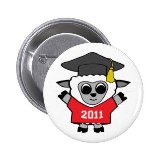 Boy Sheep Red & White 2011 Grad Pinback Button