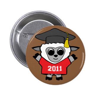Boy Sheep Red & White Grad 2011 Button