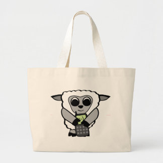 Boy Sheep with Cell Phone Tote Bags