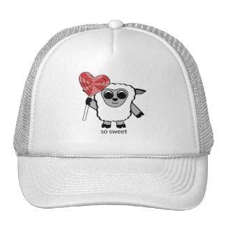Boy Sheep with Heart Lollipop Mesh Hats