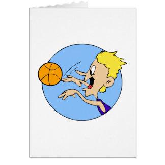 Boy shooting ball card