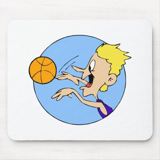 Boy shooting ball mouse pad
