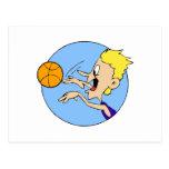 Boy shooting ball postcard