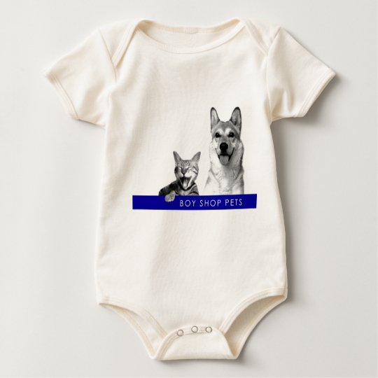 Boy Shop Pets Baby Creeper T-Shirt
