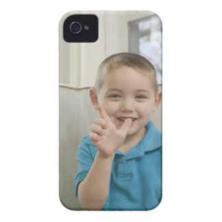 Boy signing the letter 'L' in American sign iPhone 4 Case-Mate Cases