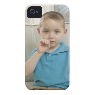 Boy signing the letter 'O' in American sign Case-Mate iPhone 4 Cases