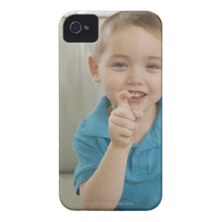 Boy signing the letter 'X' in American sign iPhone 4 Case-Mate Cases