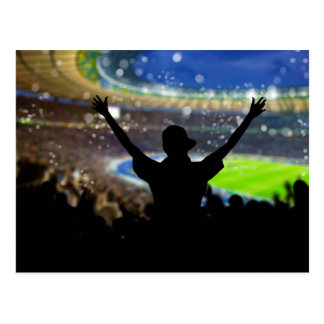 Boy Silhouette at Sports Arena Postcard