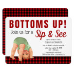 Boy Sip &  See Baby Shower Invitations ((More invites like this available)