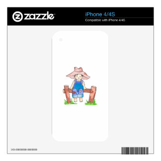 BOY SITTING ON FENCE SKIN FOR iPhone 4S