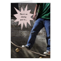 Boy Skateboarding Back to School Card