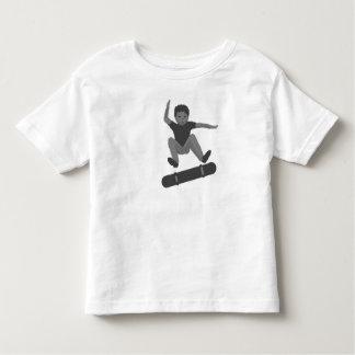 Boy Skateboarding Heel Flipping tshirts