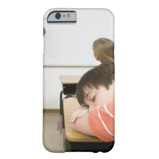 Boy sleeping on desk in classroom barely there iPhone 6 case