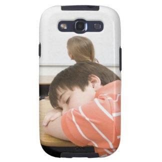 Boy sleeping on desk in classroom samsung galaxy s3 case