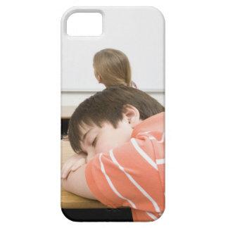 Boy sleeping on desk in classroom iPhone SE/5/5s case