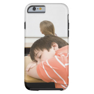 Boy sleeping on desk in classroom tough iPhone 6 case