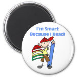 Boy Smart Because I Read 2 Inch Round Magnet