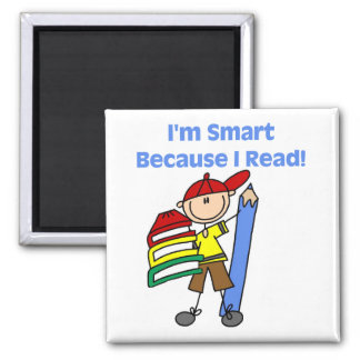 Boy Smart Because I Read Fridge Magnets