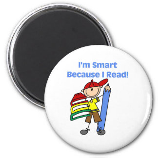 Boy Smart Because I Read Refrigerator Magnets