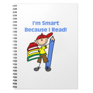 Boy Smart Because I Read Spiral Notebook