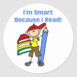 Boy Smart Because I Read Stickers